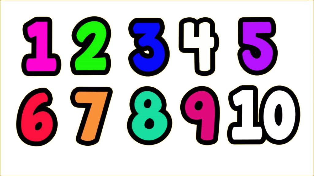 1 to 10 numbers