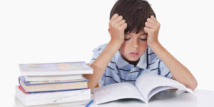 Boy Learning difficultly